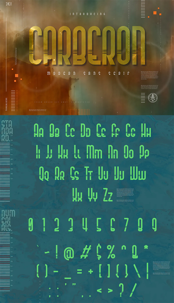 Carberon Sans Serif Font