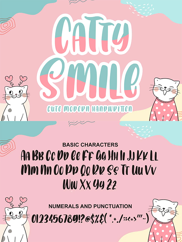 Catty Smile Modern Font