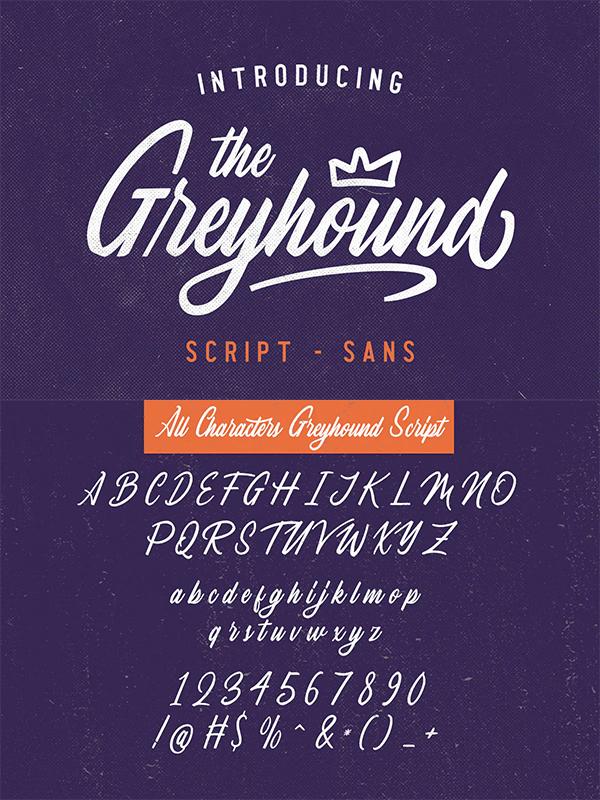 The Greyhound - Font