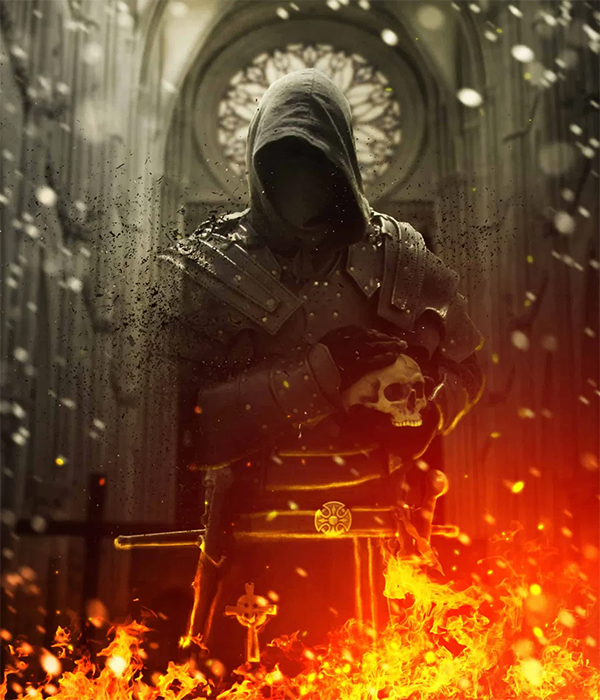 Create a Firing Medieval Scene with Disintegration Effect in Photoshop