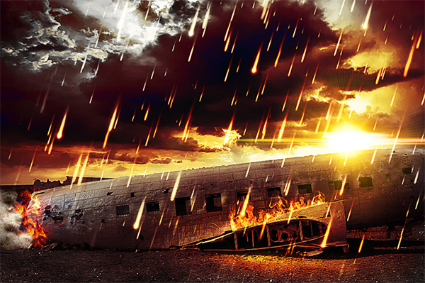 Apocalypse Photoshop Fire Rain Photo Manipulation Tutorial
