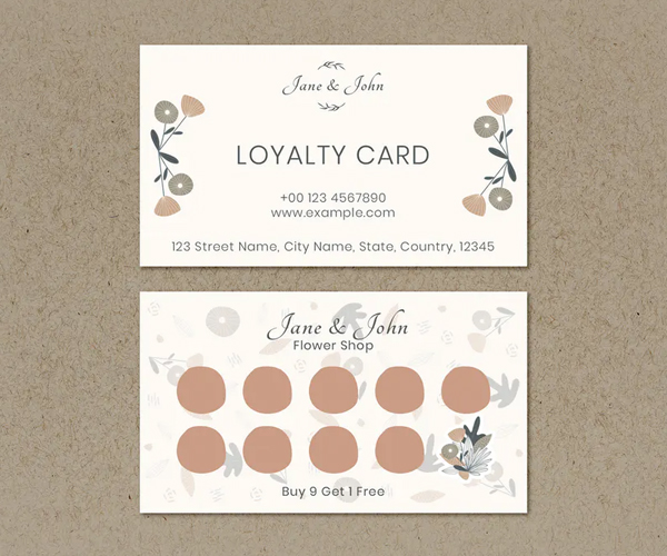 Floral Loyalty Business Card Template