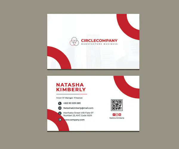 Circle Company Business Card Template