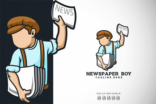 Newspaper Boy Logo