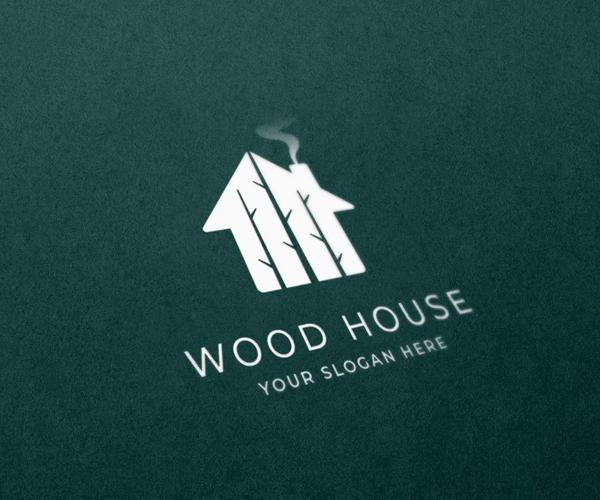 Wood House Logo Design