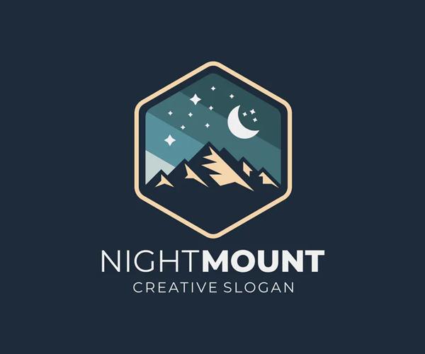 Badge Mountain Creative Logo