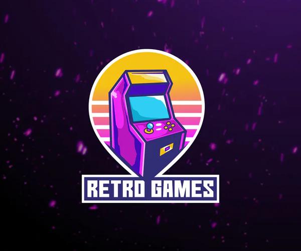 Retro Games Esport Logo