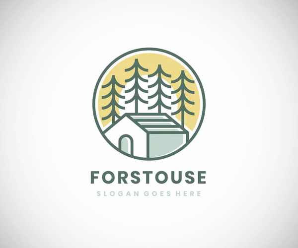 House In Forest Logo