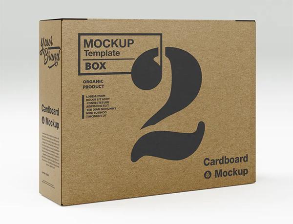 Elegant Kraft Box Mockup