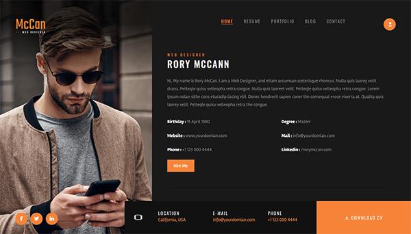 McCan - Portfolio WordPress Theme