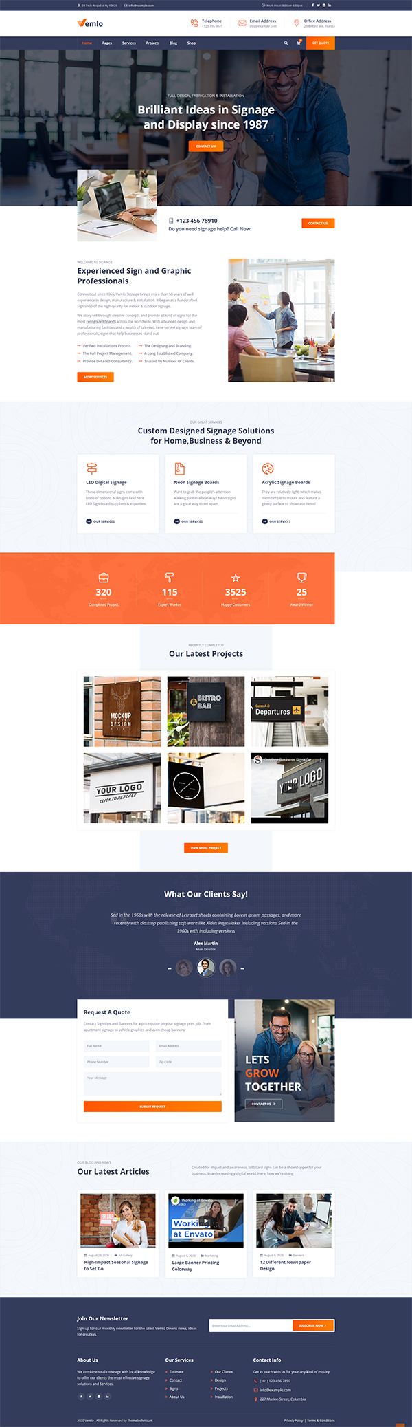Vemlo - Digital Signage Services WordPress Theme
