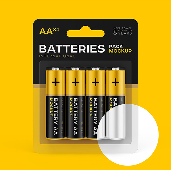 Creative Battery Mockup