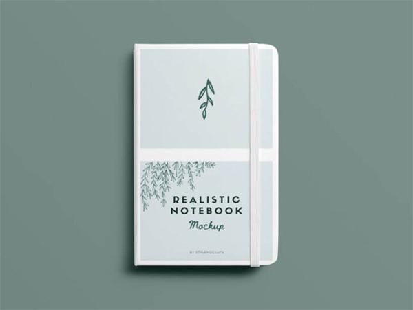 Free Download Elegant Notebook Mockup (PSD)