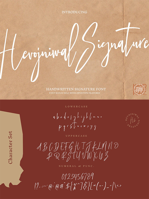 Hevojniwal Signature Font