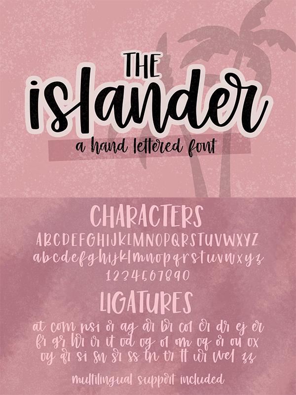 Islander - Hand Lettered Script Font