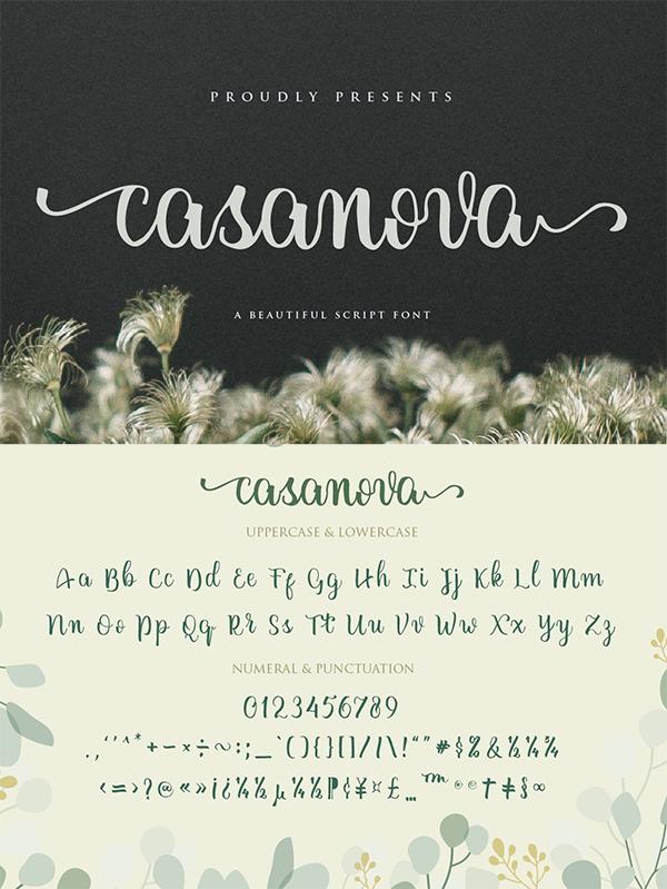 Casanova Script Font