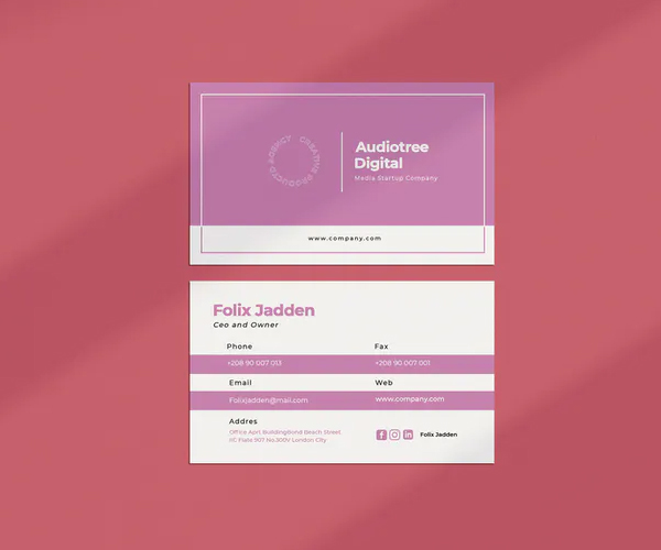 Audiotree Business Card Template