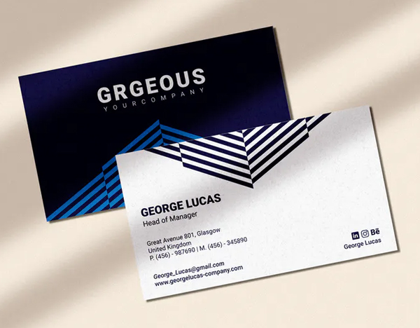 Blue – Business Card Template