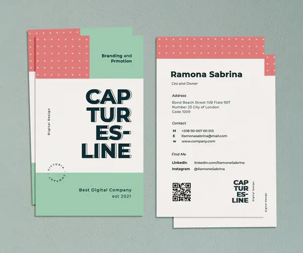 Capturesline Business Card Template