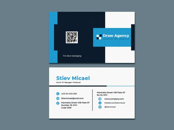Draw Agency Business Card