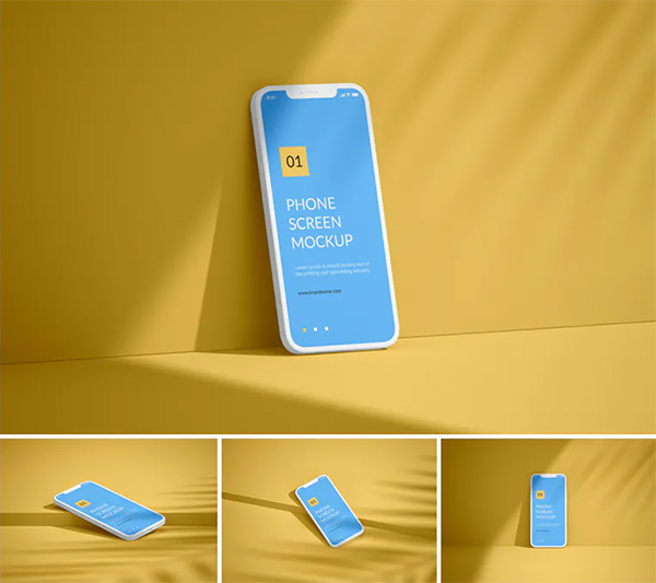 Unicolor Phone Screen Mockup
