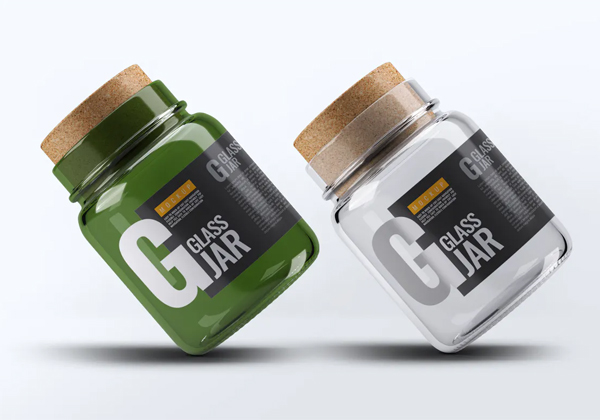 Glass Jar With Cork Lid MockUp