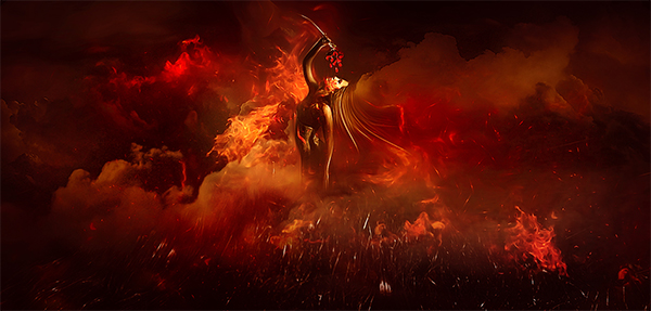 "Create ""Dance on Fire"" Scene in Photoshop"