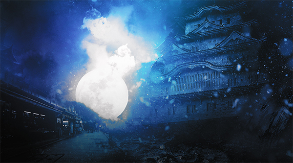 Create Dark, Snowy Ancient Japanese Castle Scene in Photoshop