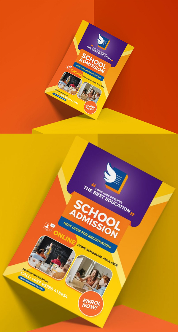 Free Education Flyer Design Template