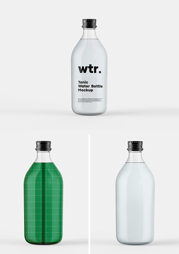 Free Tonic Bottle Mockup