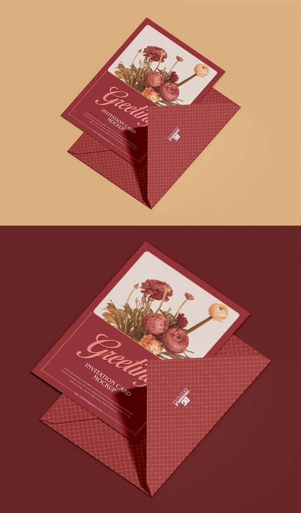 Greeting Invitation Card Mockup