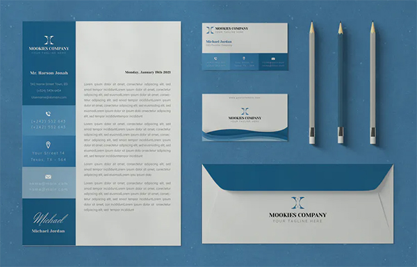 Mookies Stationary Template