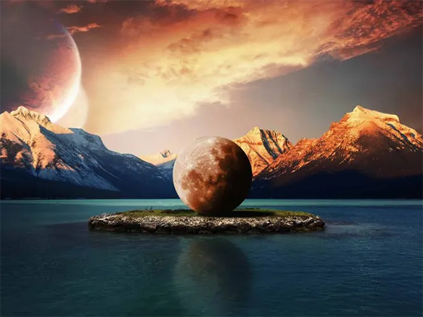 Create a Surreal Moon on Island Photo Manipulation in Photoshop