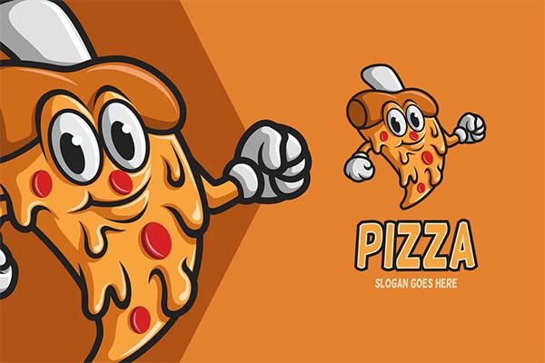 Pizza - Mascot Logo