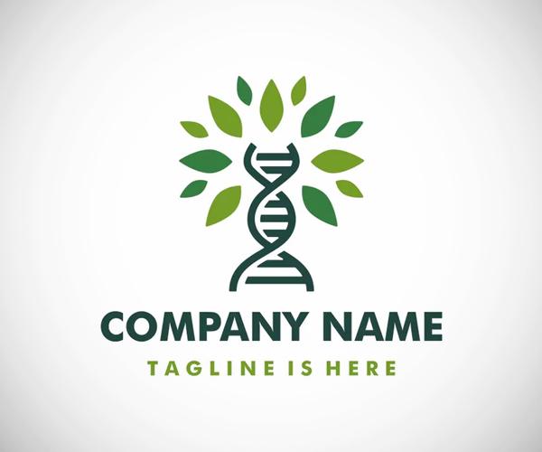 DNA Tree Leaf Logo