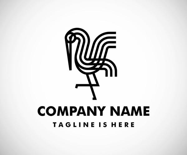 Stork Monoline Bold Logo