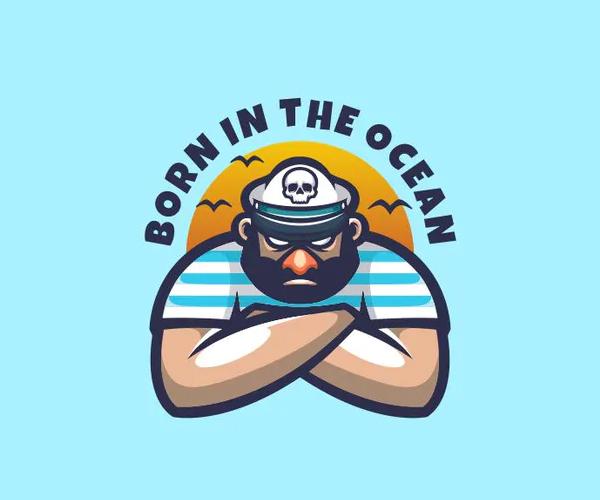 Sailor Man Logo Mascot
