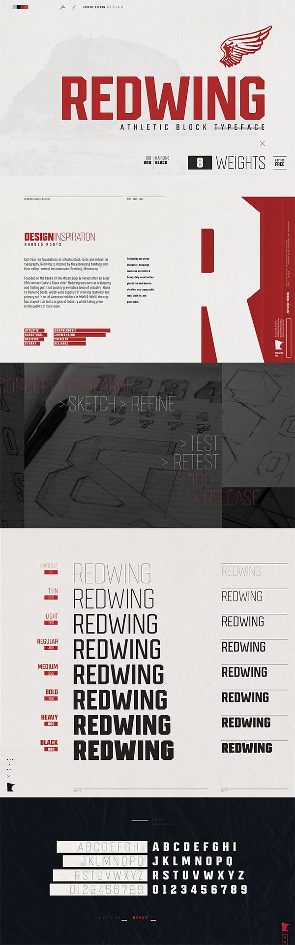 Redwing Free Font