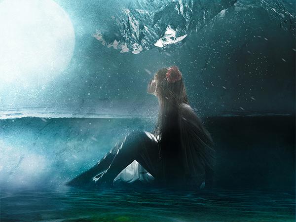 Create Surreal Girl in Water Scene in Photoshop