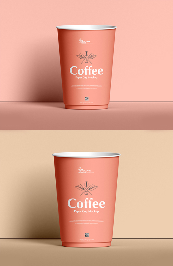 Simple Creative Coffee Cup PSD Mockup