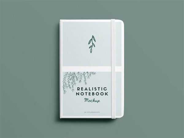 Free Download Elegant Notebook Mockup (PSD)