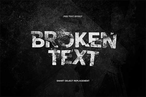 Broken Photoshop Text Effect