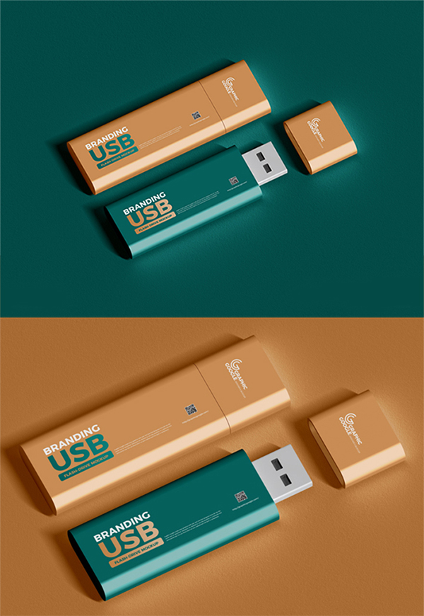 Awesome Elegant Flash Drive PSD Mockup