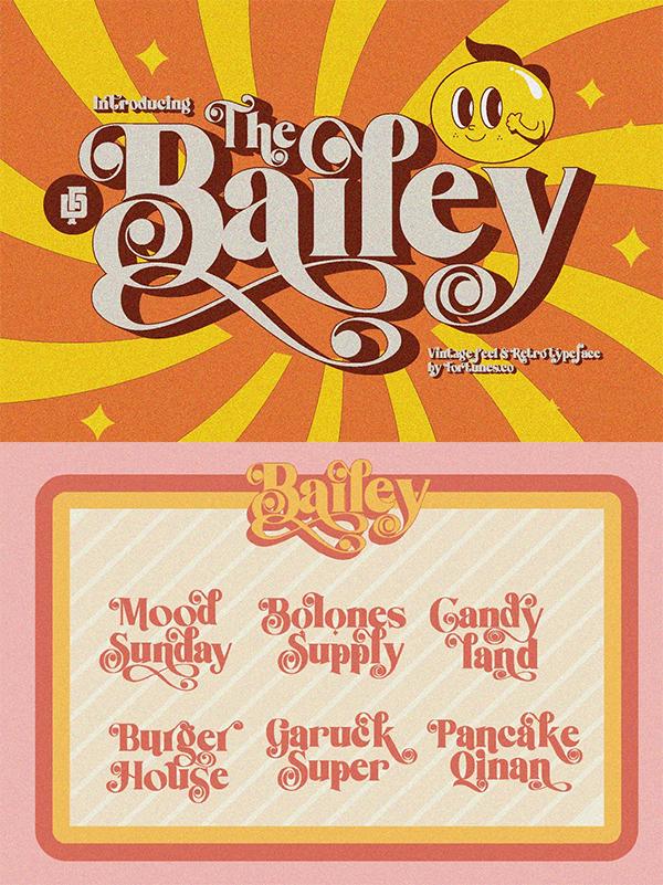 Bailey Retro Font