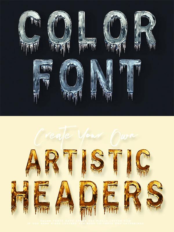 Color Display Font