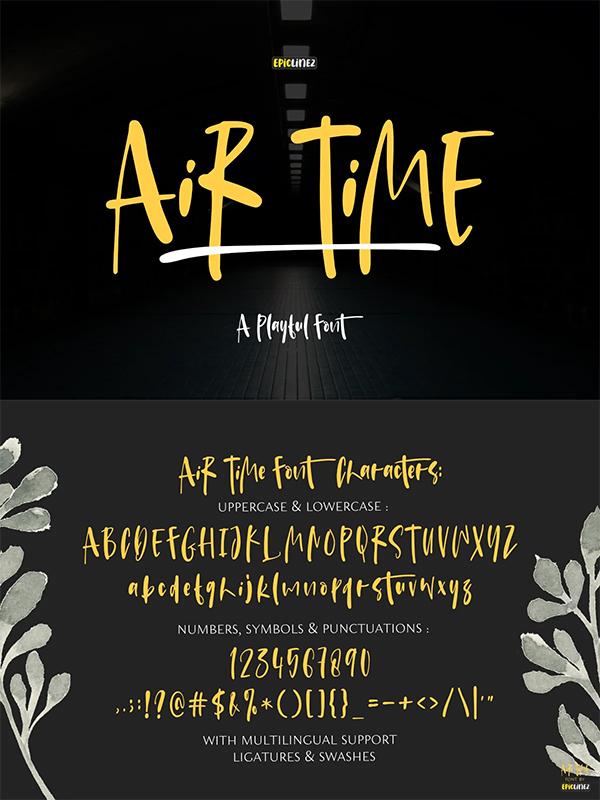 Air Time Display Font