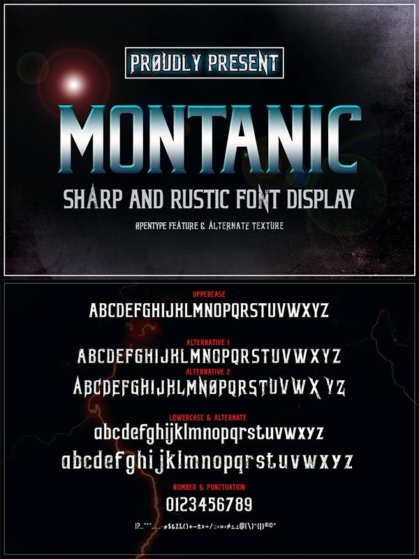 Montanic Display Font