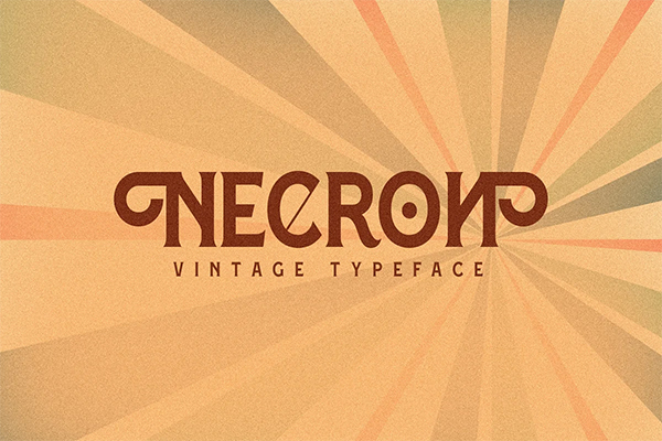 Necron Display Font