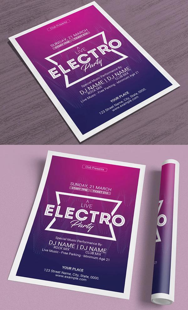 Electro Flyer Template