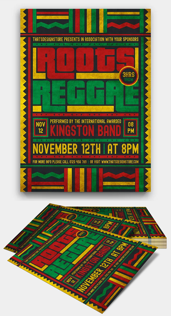 Reggae Music Flyer Template